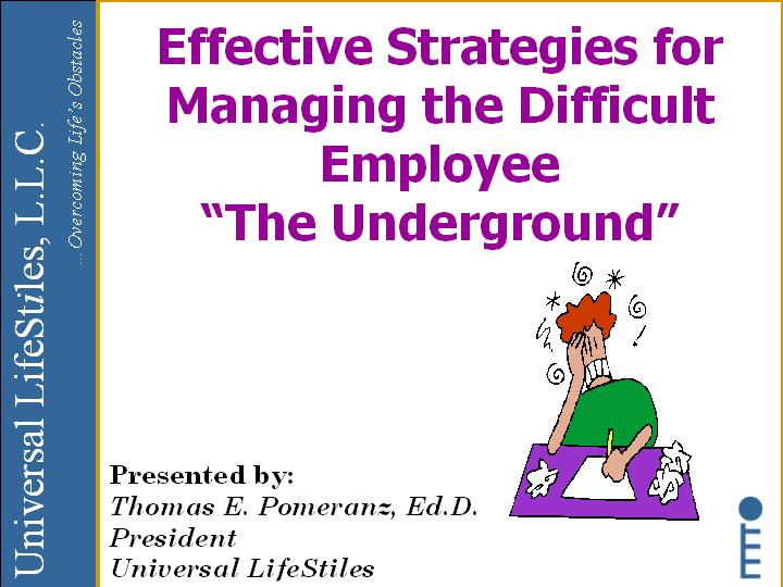 Universal Lifestiles  Training Effective Strategies For Managing
